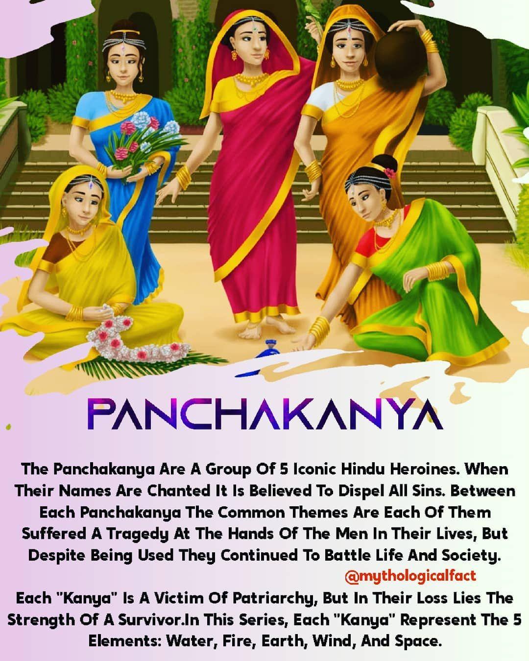 The Panchakanya(पञ्चकन्या) Are A Group Of Five