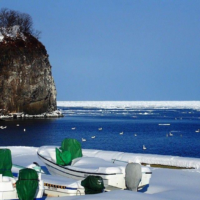 #網走 #二ツ岩 #流氷 #オホーツク #オホーツク海 #北海道 #driftice # ...