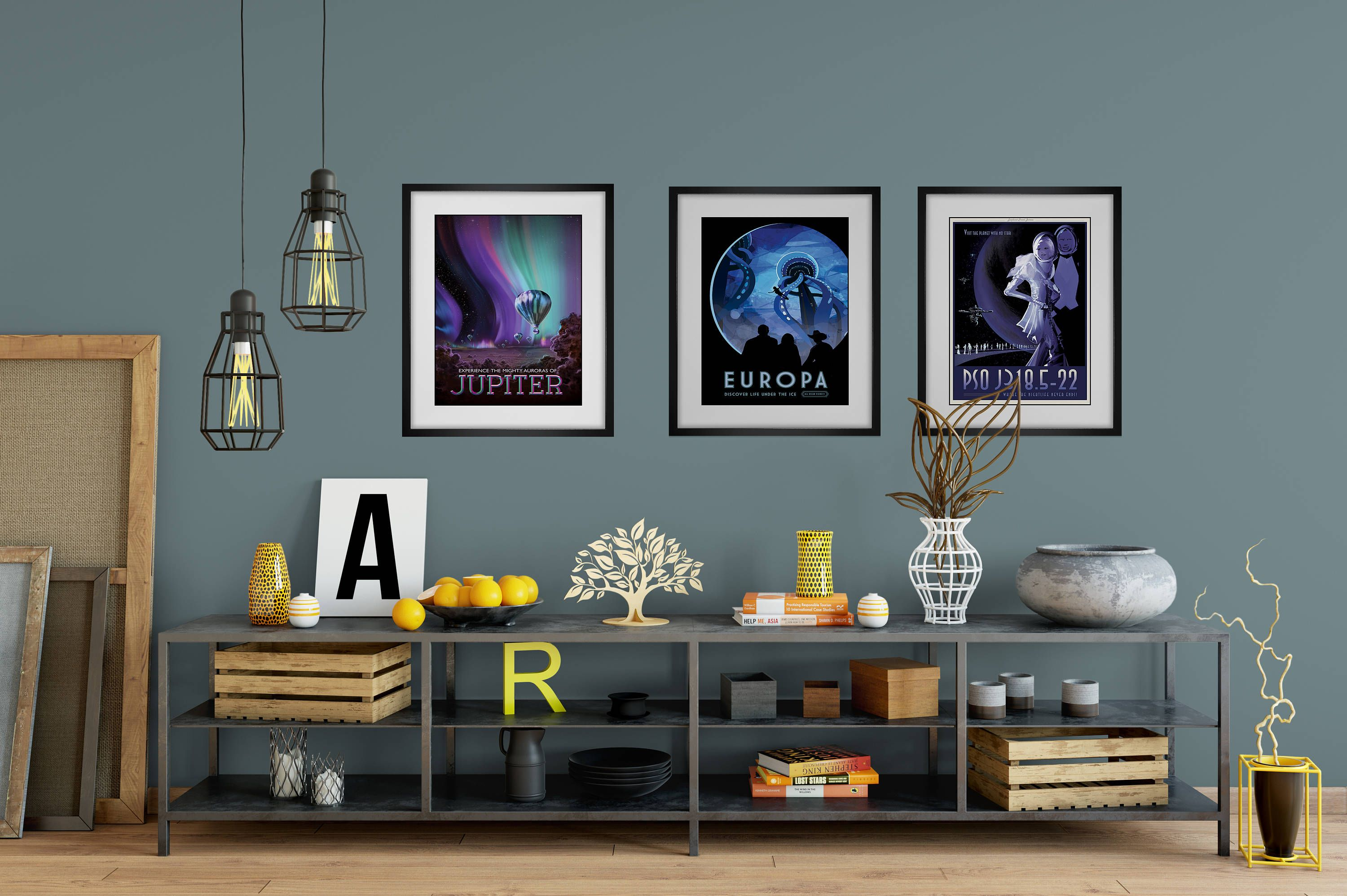 Nasa Poster Wall Art Space Artwork Set Of 3 Space Prints Space Poster Art Outerspace Decor By Picturebypicture On Etsy Frames On Wall Frame Mockups Design