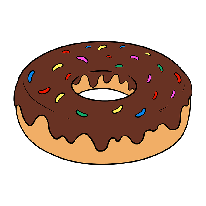 How To Draw A Donut Really Easy Drawing Tutorial Easy Drawings Donut Drawing Drawings