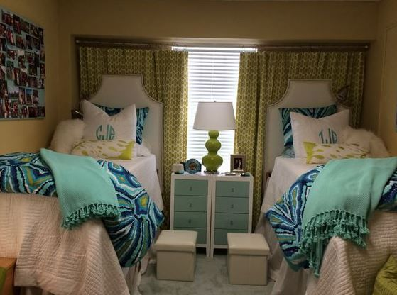 25 Preppy Dorm Rooms To Copy. Twin RoomCurtain IdeasDorm ...
