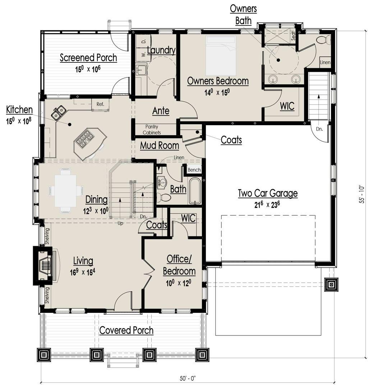 Craftsman bungalow main floor plan also best house ideas images on pinterest future home rh