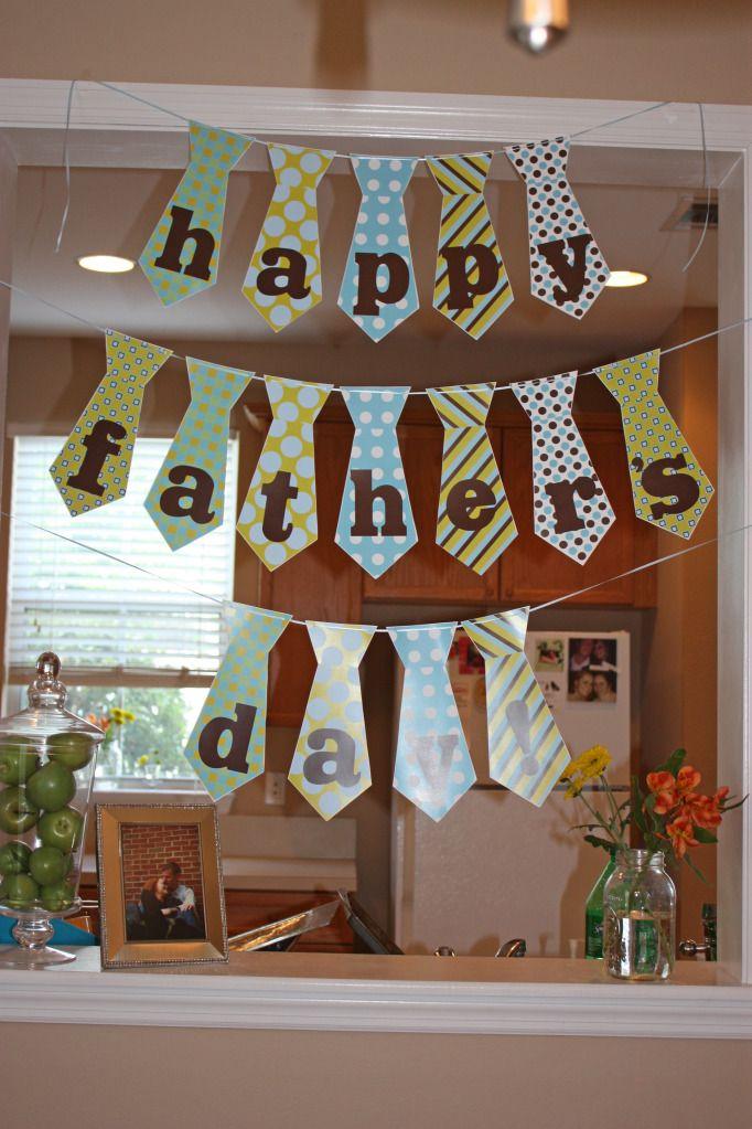 Decoracion de banner de corbatas para el d a del padre for Consejos sobre decoracion