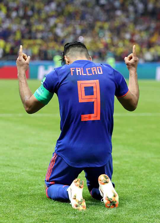 Radamel Falcao Of Colombia Celebrates After World Cup Daily Soccer Training Soccer Soccer Tips