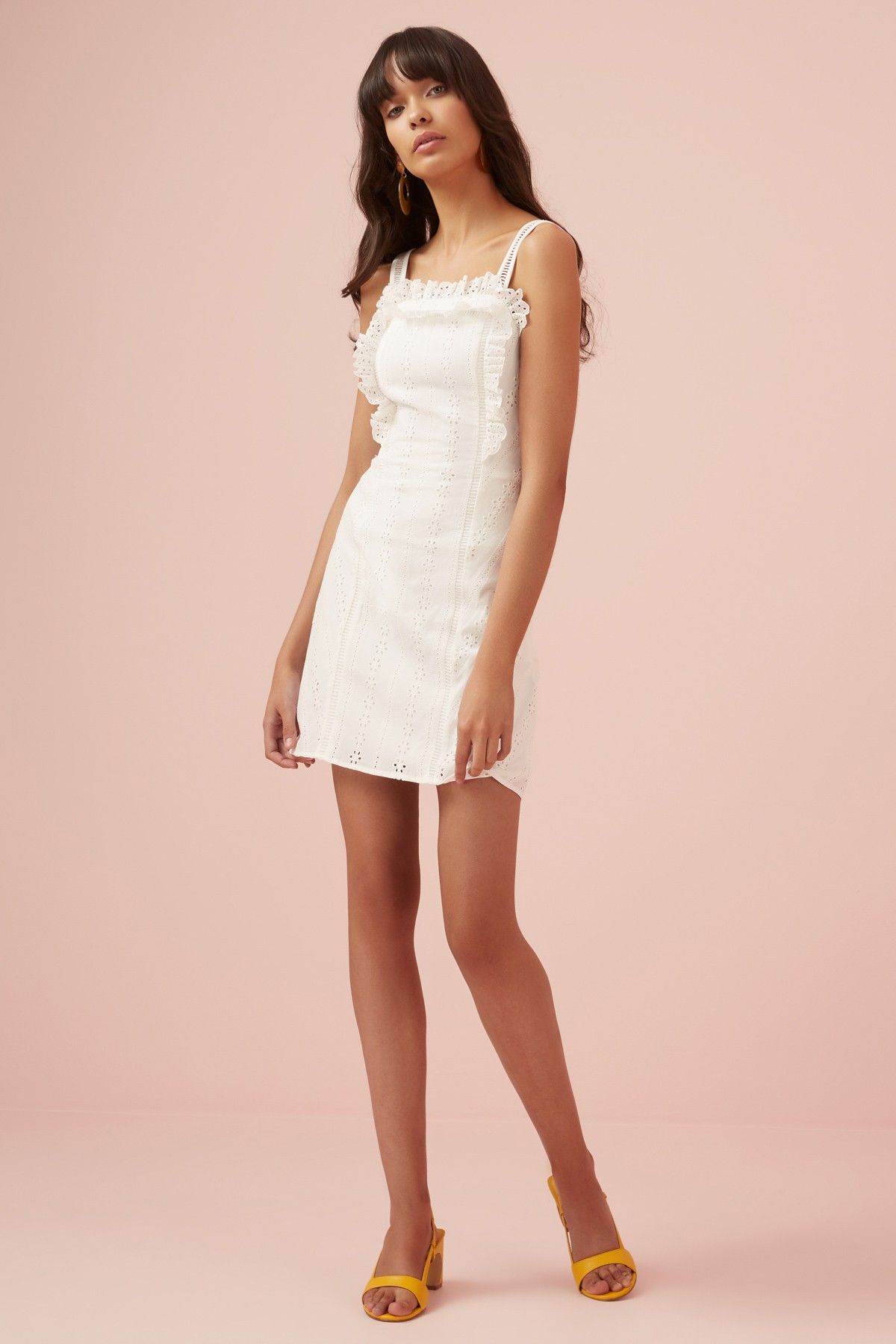 Sundays Mini Dress White Finders Keepers Bnkr White Mini Dress Mini Dress White Dress