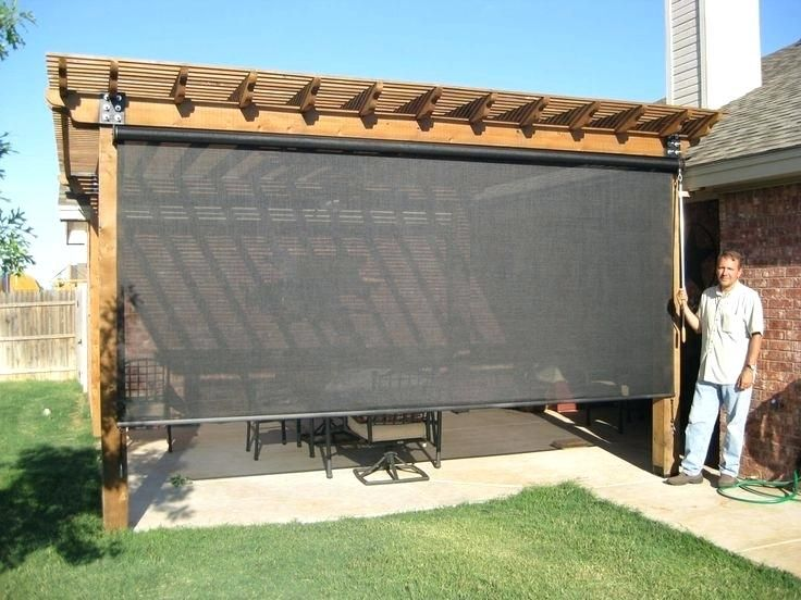 Deck Shade Best Outdoor Patio Shades Ideas On For Screen Curtains Solutions