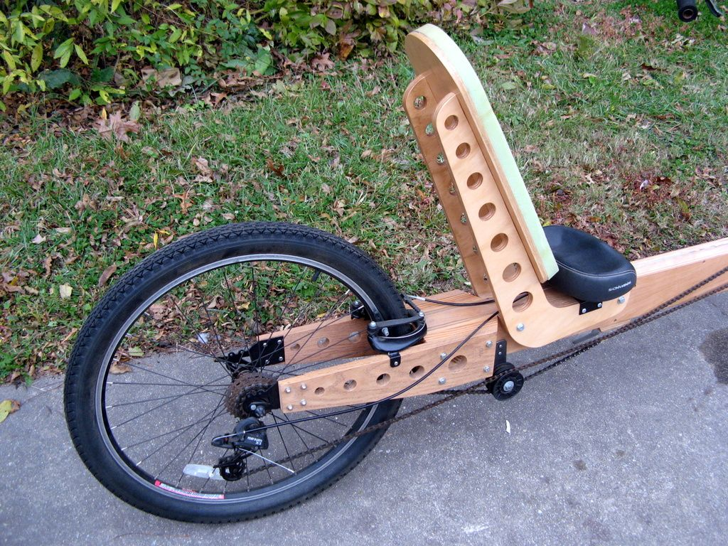 Plywood Frame Recumbent Bicycles Parts Made Out Of Wood