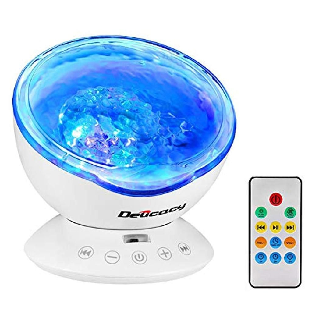 Delicacy Ocean Wave Projector 12 Led Remote Control Undersea Projector Lamp 7 Color Changing Music Player Night Light Projector For Kids Adults Bedroom Living R Night Light Projector Best Night Light Night