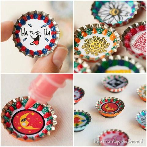 Diy Crafts These Bottlecap Magnets Are One Of My Go To Best Craft