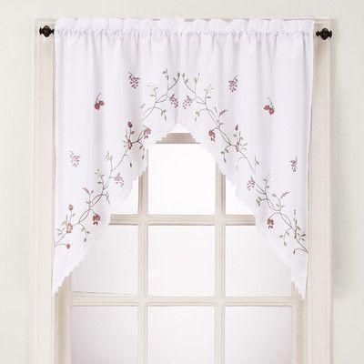 Basics 54 Window Valance Curtains Kitchen Curtains Decorative Curtain Rods