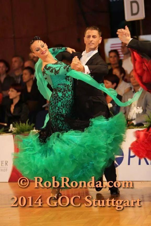 Green /teal and black ballroom dress | Бальные танцы ...