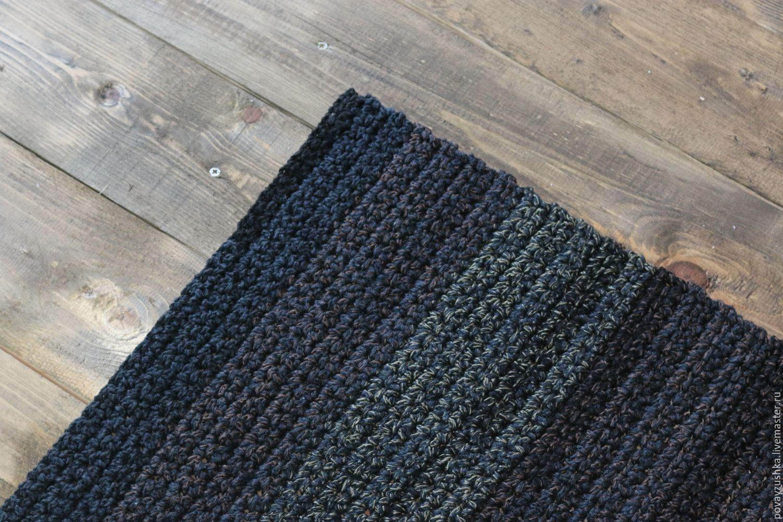 купить вязаный коврик подарок охотнику прямоугольный черный