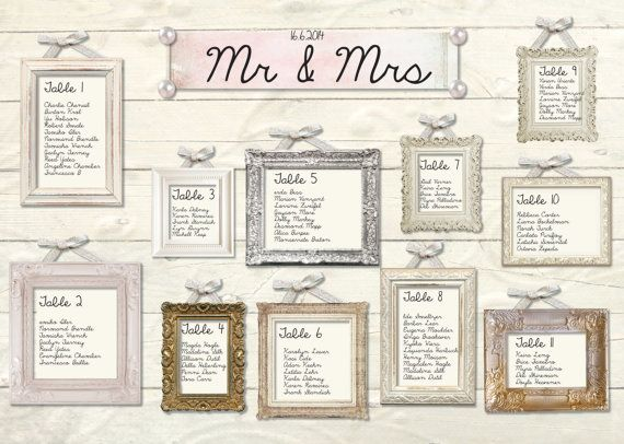 Love Birds - Wedding table plan - pinks and browns | Seatings TOP ...