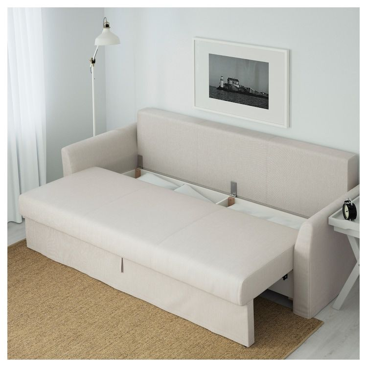 Holmsund Sleeper Sofa Nordvalla Beige Ikea In 2020 Sofas For Small Spaces Sofa Bed For Small Spaces Small Sofa