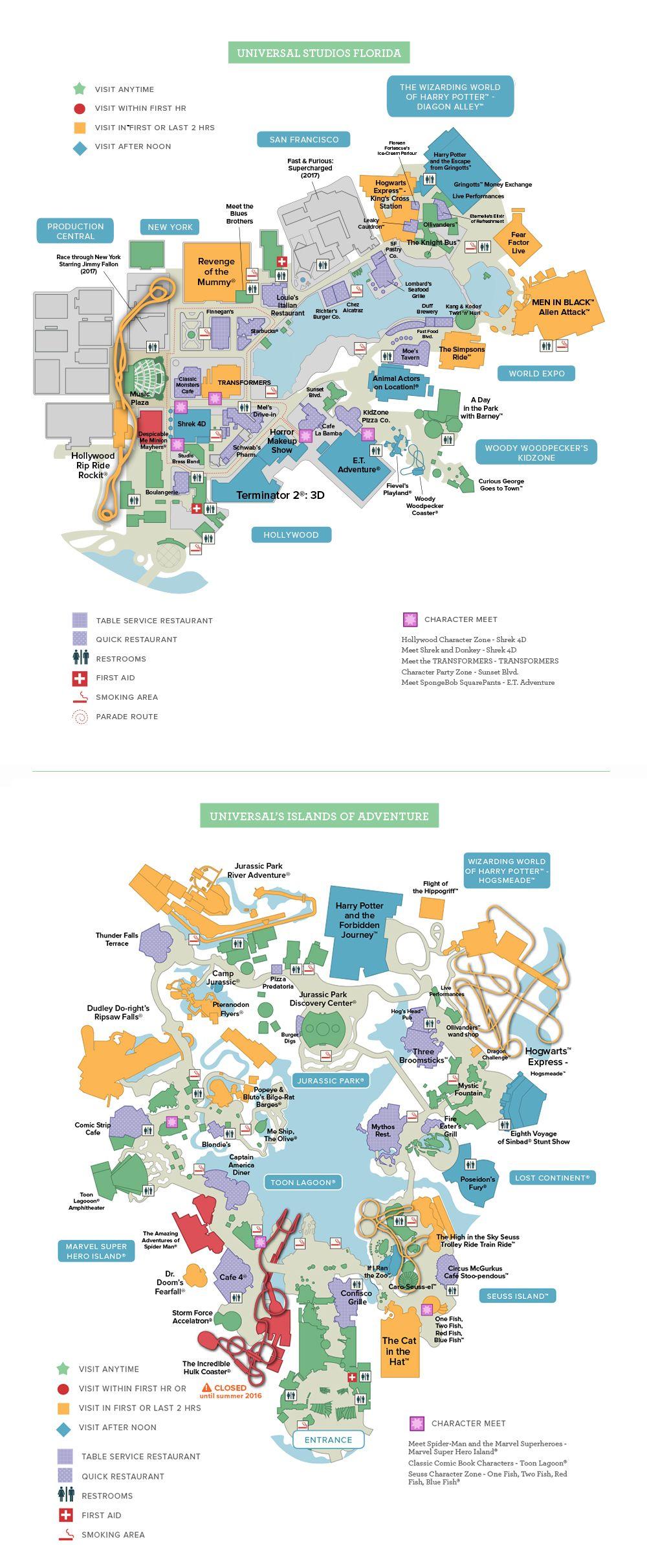 Universals Islands of Adventure General Map travel Pinterest