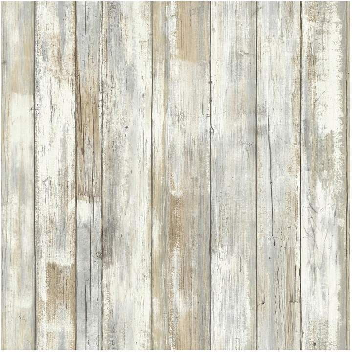 Roommates Faux Distressed Wood L Stick Wallpaper Wall Decal
