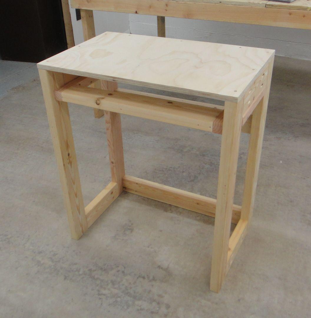 wood desk project plans