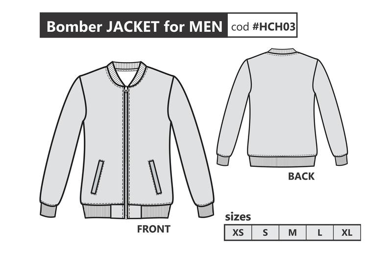 Men Jacket Pdf Sewing Pattern Bomber Jacket For Men Sizes From Xs To Xl Pattern Download Printable Pattern For Men Layered File Chaqueta Bomber Hombre Bomber Hombre Chaqueta Bomber