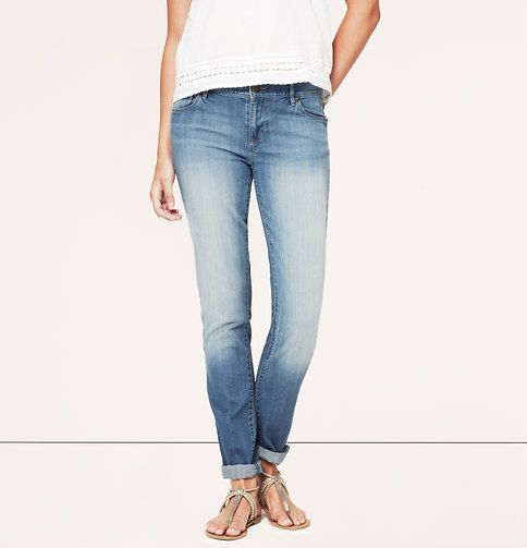 Relaxed Skinny Jeans in Surf Blue Wash   Loft