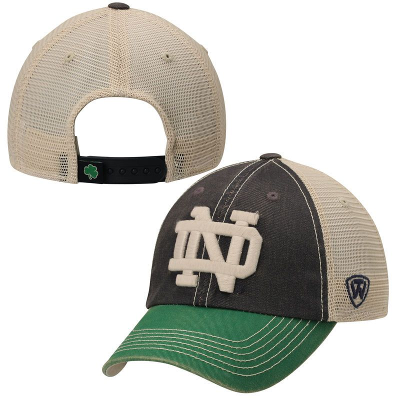more photos 539f6 b43e8 Notre Dame Fighting Irish Top of the World Offroad Trucker Adjustable Hat -  Navy Blue