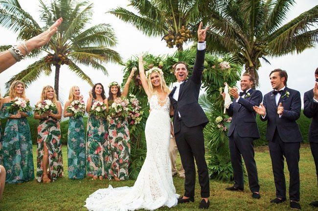 Beach Wedding Ceremony Oahu: Bohemian, 70s-Inspired Kauai Wedding: Cologne + Sam In