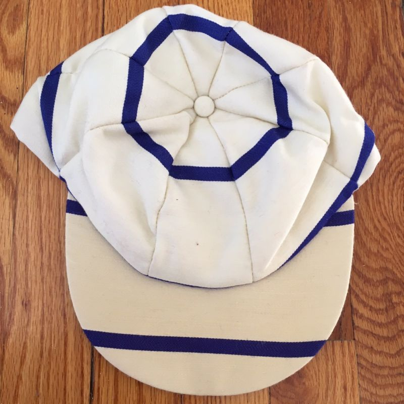 Vintage The Andover Shop England Cricket Cap Hat Striped Hooped White Blue 7 1 4 England Cricket Cap Cricket Store Cricket