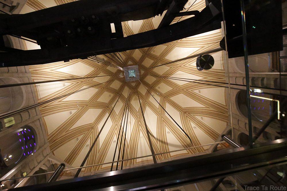 Ascenseur voute dome coupole Mole Antonelliana Musée du Cinéma de Turin - Museo Nazionale del Cinema Torino