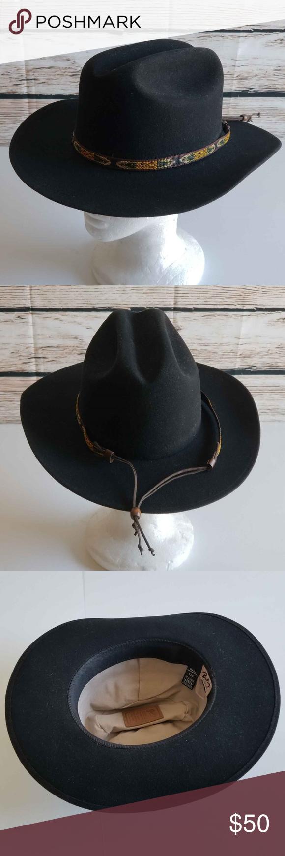 59c6359544477 Bailey Hopper Cattleman Poet Hat 100% Wool Felt Southwestern Size Small -  100% Wool