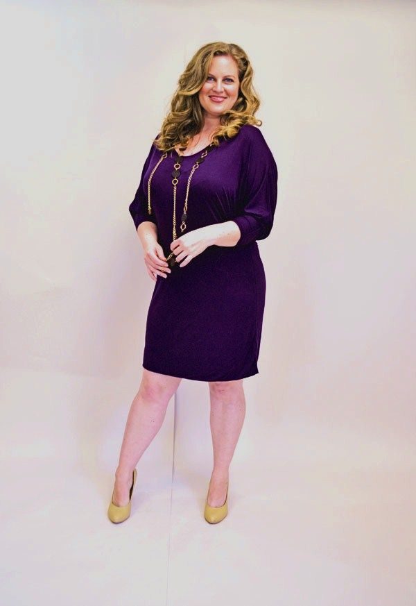 Sydney Convertible Dress Plum Jill Alexander Plus Size Fashion