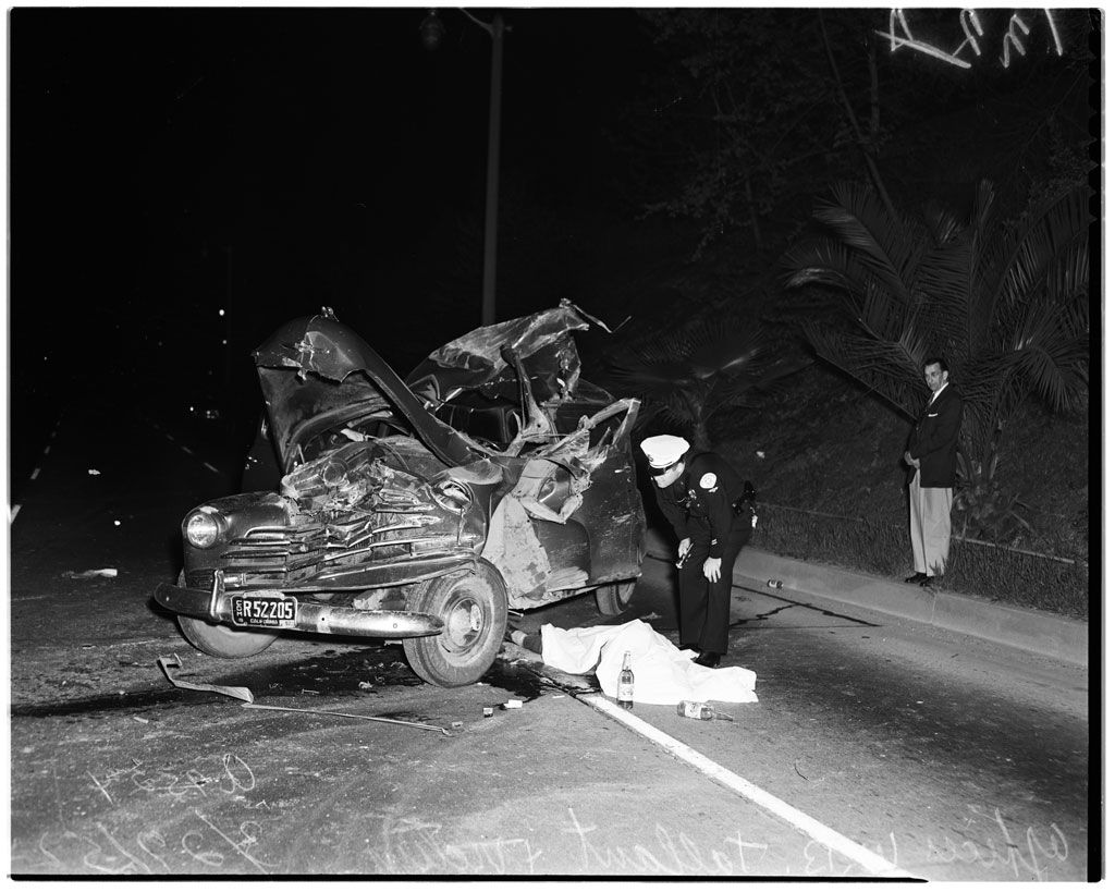 Sam kinison accident scene photos - Car Accident Death 1952