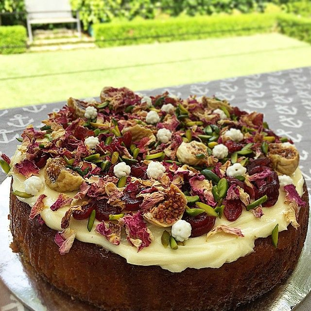 Favourite Sydney patisserie orange cake with persian fig