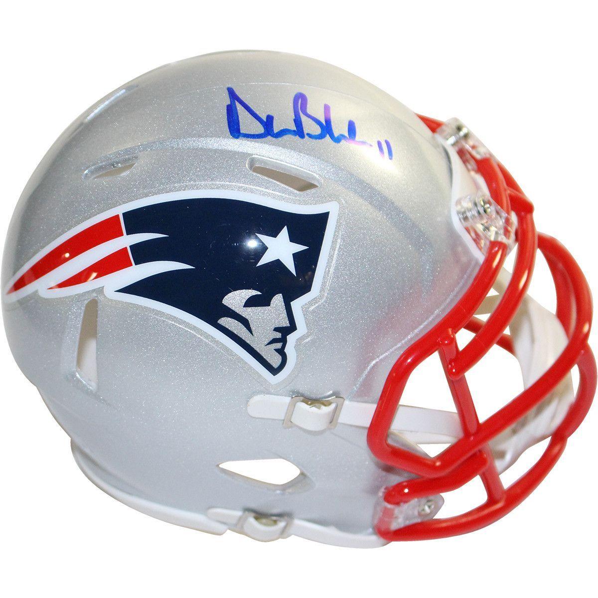 09cde21a0af Drew Bledsoe Signed New England Patriots Riddell Speed Mini Helmet ...