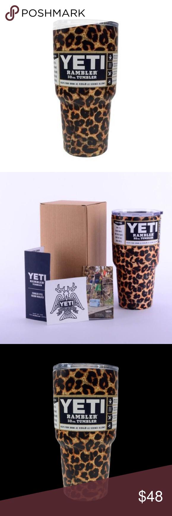 Yeti Coffee Thermos: NWT 30 OZ YETI TUMBLER CHEETAH LEOPARD PRINT The Double