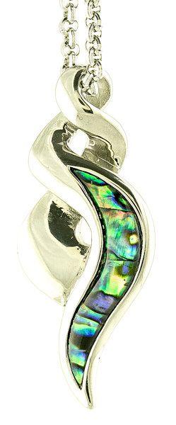 Earthbound Kiwi New Zealand Paua Infinity Twist Stainless Steel