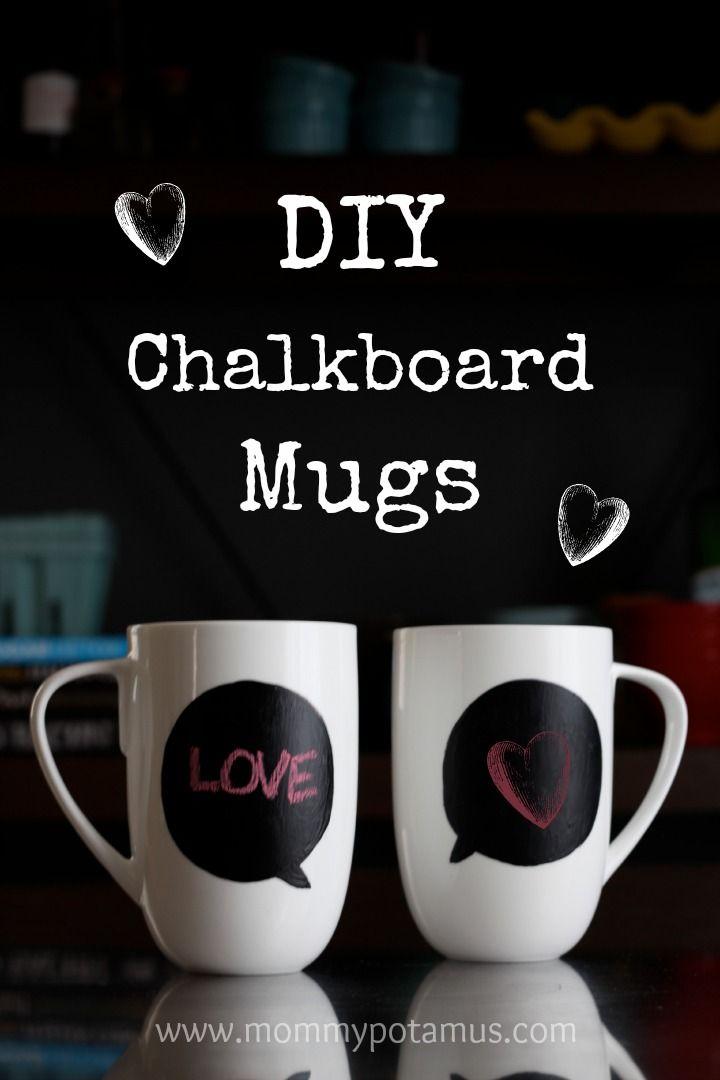 DIY Chalkboard Mugs - So easy and fun!