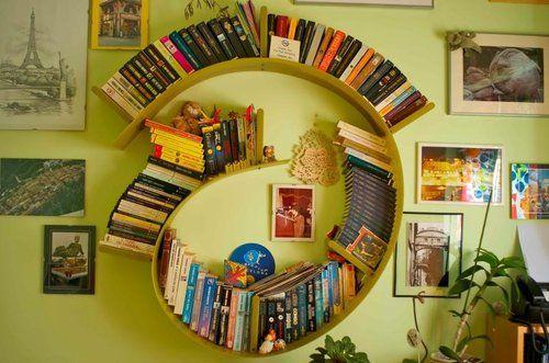 What a fun bookshelf!