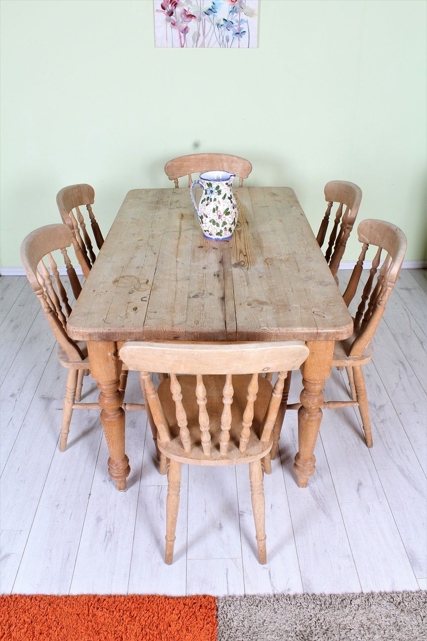 Pine Furniture Rustic Farmhouse Table