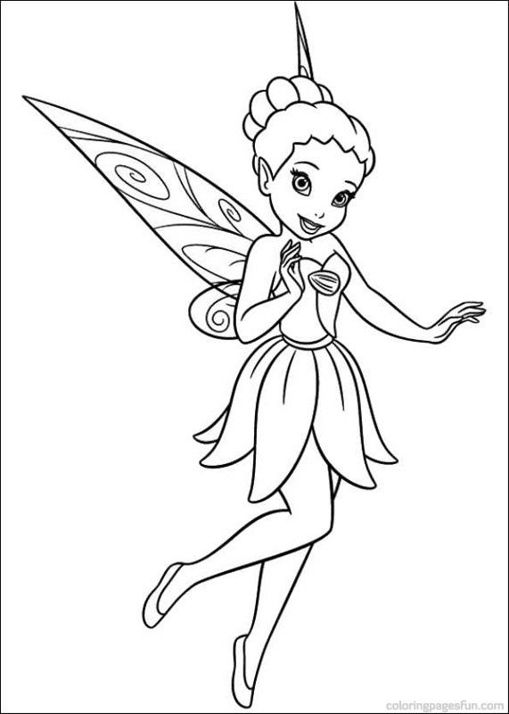 Coloring Page Tinkerbell Secret Of The Wings Tinkerbell Secret Of