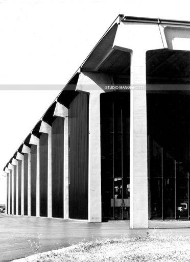 FM Constructive system. Elmag plant. Lissone, Milano, Angelo Mangiarotti, 1964