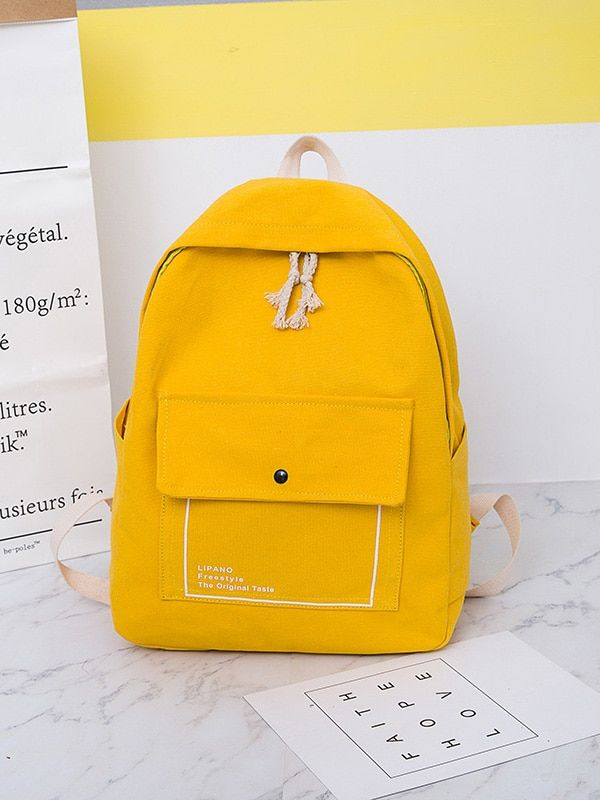 3f5877f996 Side Pocket Canvas Backpack -ROMWE. Find this Pin and more ...