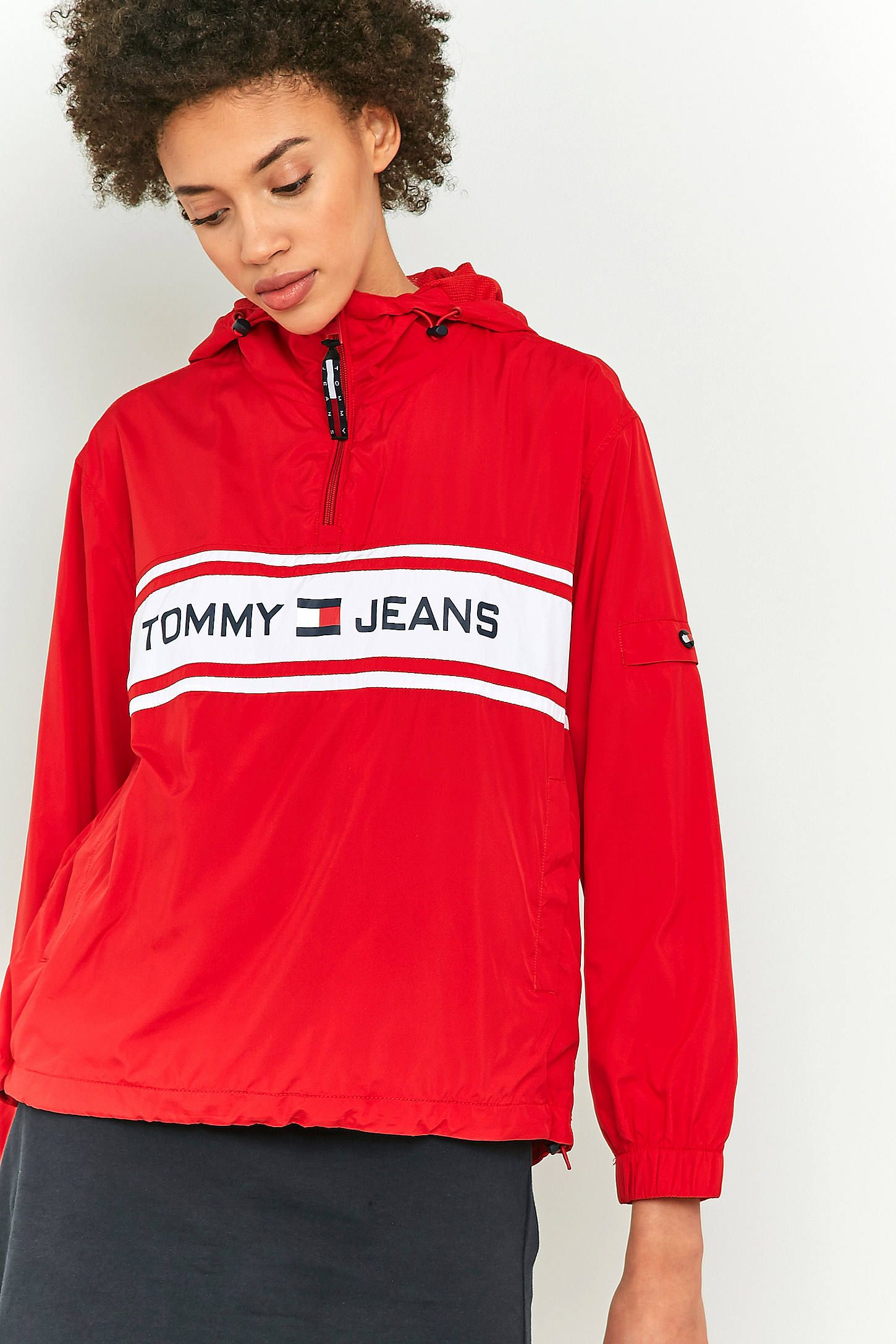 Tommy Jeans 90s Popover Jacket Tommy Jeans Sweatshirt Jacket Jackets