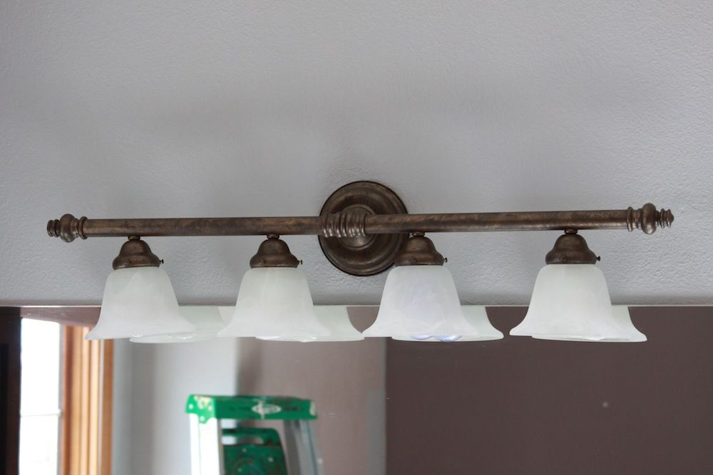 Diy How To Paint Brass Light Fixtures And Update Your Room