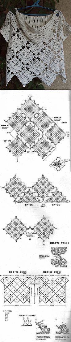 Crochet motif for sweater ~k8~