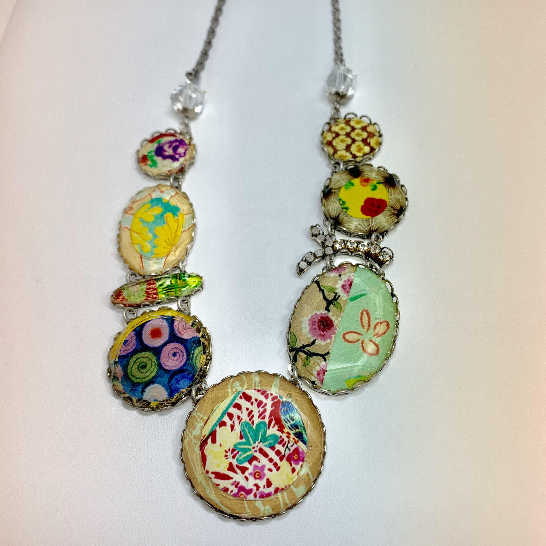 Ayala Bar Necklace Vintage Colorful Mixed Pattern Necklace Etsy Bar Necklace Vintage Necklace Necklace Etsy