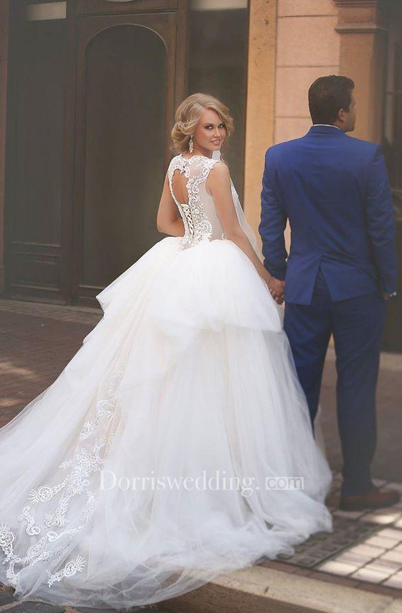 A Line Ball Gown Empire Mini Jewel Bell Empire Dropped Appliques
