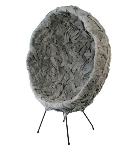 New Zealand designer Timothy John has created the Woven series from steel wire and industrial felt.