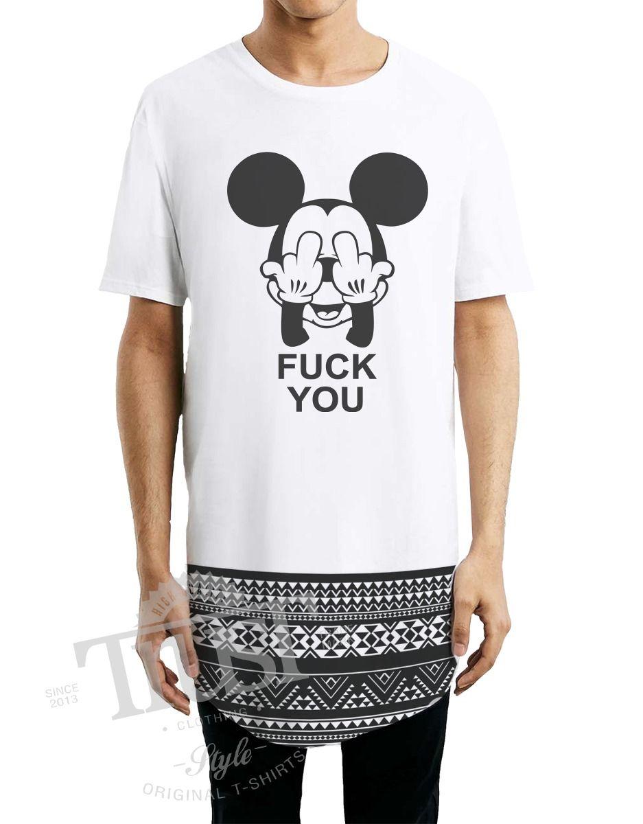 f617042adb Camiseta Camisetao Masculino Oversized Longline Swag Mickey - R  69 ...
