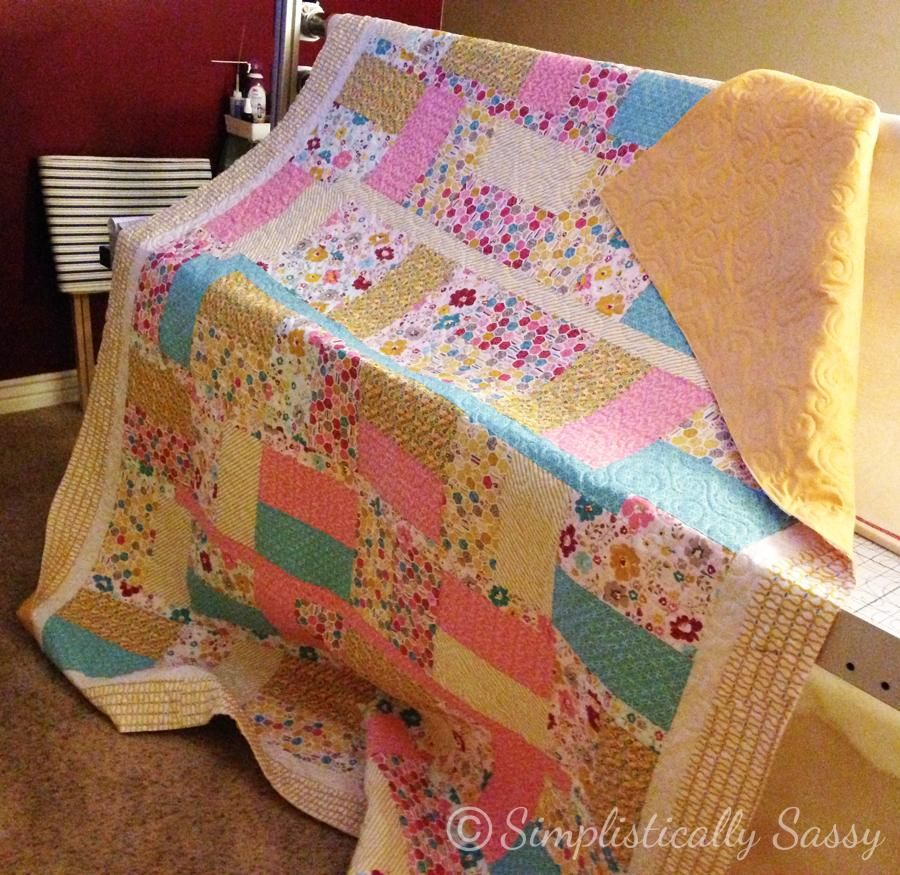 Simple Twin Size Quilt Pattern By