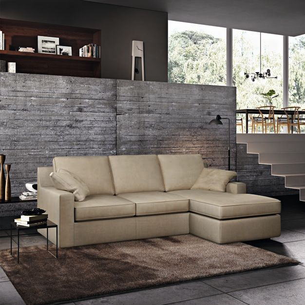 Poltronesofà Italian microfiber Lshaped couch (With
