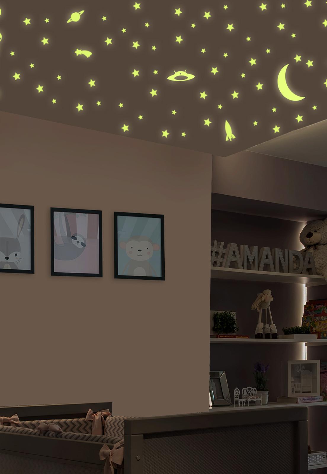 Adesivo Decorativo De Teto Stixx Estrelas Brilha No Escuro
